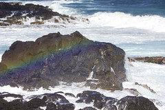 IMG_1391 (kat carney) Tags: ocean swim hawaii rainbow rocks surf spraybow