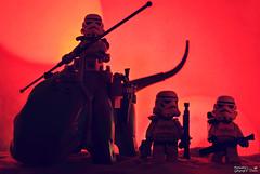 RTB (Return To Base) (storm TK431) Tags: sunset army starwars desert lego return empire stormtrooper imperial base tatooine dewback sandtrooper pauldron brickforge