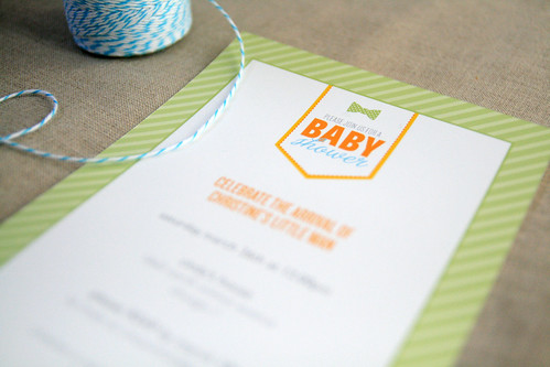 A Bow-Tied Theme Baby Shower