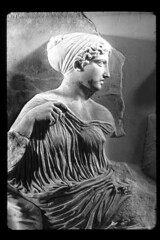artemis (Xuan Che) Tags: bw sculpture history museum greek ancient europe december goddess athens frieze scan parthenon relief greece gods classical marble artemis acropolis copy 2010 pentelic statuaclassica