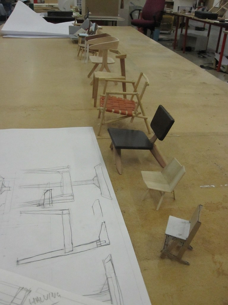 The chairs - BA Contemporary Furniture Design Course ercol project 2011