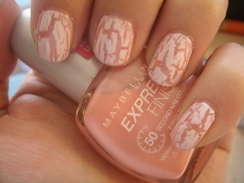 China Glaze Lighning Bolt over Maybelline Firefly