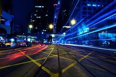 light trails HK Central ( Simon) Tags: camera city light hk slr simon beautiful skyline modern night dark moving nikon traffic snapshot chinese images hong kong international busy photographs capture  developed   simontam d90