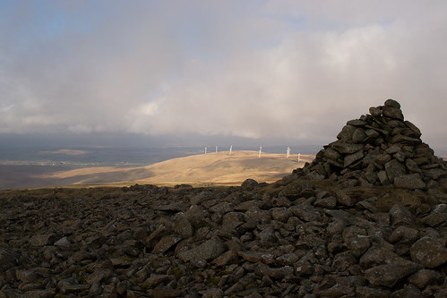 Towards Hare Hill Windfarm
