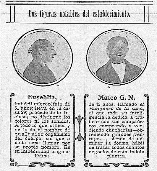 Descripción de dos enfermos del Hospital del Nuncio en Toledo.  'La Campana Gorda' - Año XXII Número 1217 (15/01/1914)