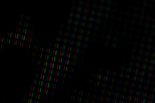 Close up image of pixels on an LCD screen
