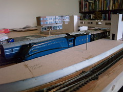 Moderne fantasy layout update (FrMark) Tags: uk england art layout thirties britain railway moderne gb british stamford deco 30s streamline modeal