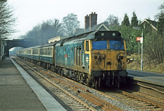 50001 Barnt Green 14Apr79 (david.hayes77) Tags: westmidlands dreadnought barntgreen class50 50001