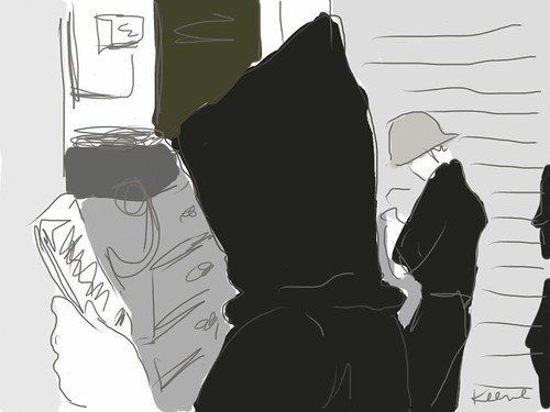 Backstage (iPad drawing)
