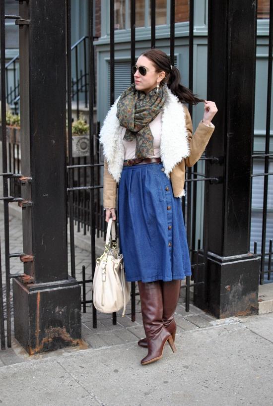 denim skirt-brunch1