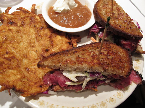 Pastrami with a side of Latke