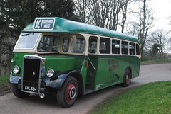 The Greenway Bus a Leyland AHL 694 (martinrstone) Tags: holidays nationaltrust leyland vintagebus heritagetransport greenwayhouse ahl694 heritagebus