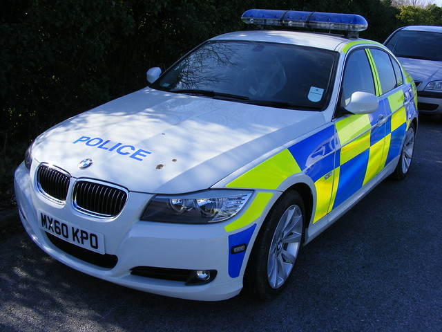 gmp greater manchester police bmw 3 series saloon mx60kpo rpu road policing unit battenburg chevron lightbar led openshaw workshops complex march 2011