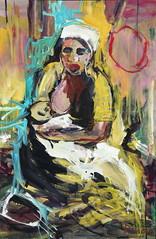 Jorge Rando África óleo sobre tabla   122x80 cm 1998 (arteneoexpresionista) Tags: rando jorge áfrica
