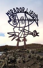 Mirador del Río Sign