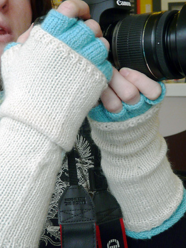 Strata Fingerless Gloves