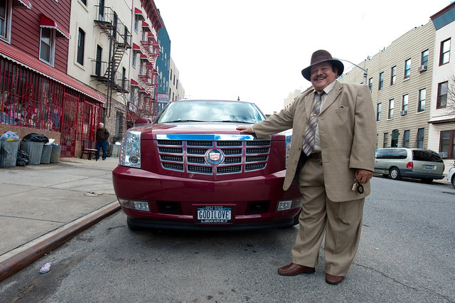 Miguel and his car: Bushwick Brooklyn