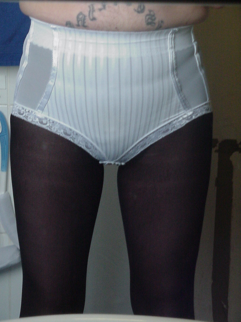 Panty girdle over pantyhose think, that