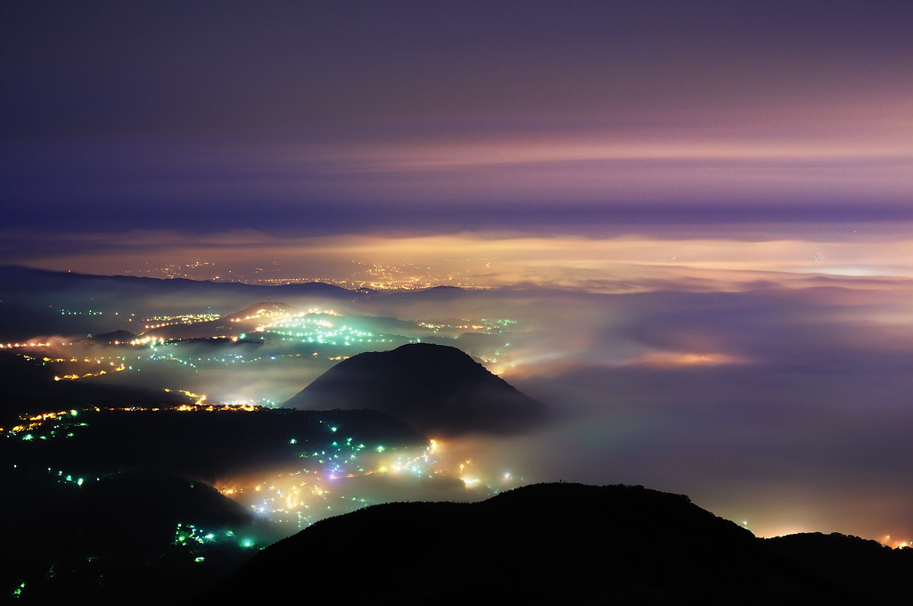 大屯山之夜 - 綿綿雲浪