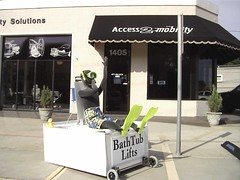 Buddy in Tub 003 (Access2MobilityTX) Tags: home wheel ada chair ramp stair texas aids lift conversion tx wheelchair elevator systems scooter ramps tyler east elder disabled vehicle scooters access vans van braun care pt minivan transfer supplies handicap handicapped adapted mobility disabilities wheelchairs ability disability adaptive accessible compliant access2mobility