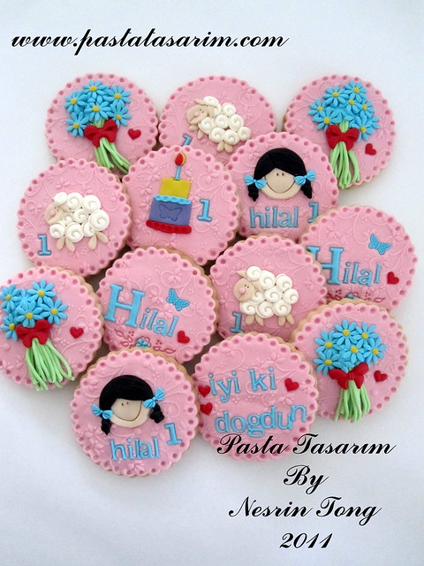 1ST BIRTHDAY COOKIES - HILAL