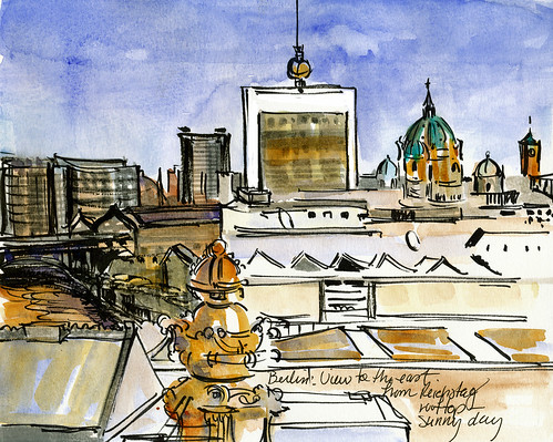 Berlin: view to the east from Reichstag rooftop