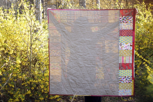 Brick House Quilt Back