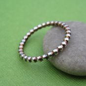 Sterling Silver Bead Ring