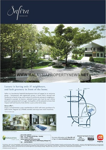 Safira Bungalow for sale in Saujana Impian