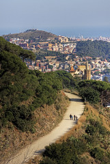 barcelona walks (mariusz kluzniak) Tags: barcelona city sea panorama bay town spain europe view path culture hills historical catalan catalunia