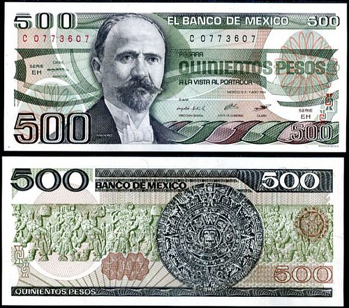 500 Pesos Mexiko 1983-84, P79