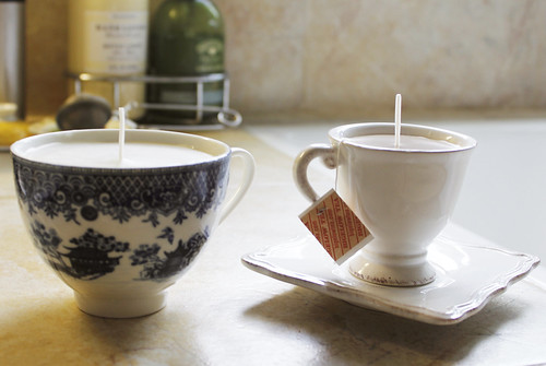 We made teacup candles.
