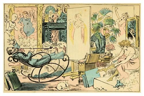 007-El estudio del celebre maestro Jean Bizouard-La grande mascarade parisienne 1881-84-Albert Robida