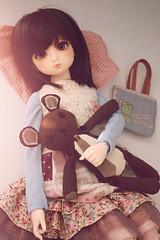 lazy day (Cyristine) Tags: bear cute girl ball asian dami doll nap adorable lazy kawaii bjd teddie msd jointed elfdoll