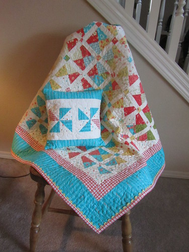 Quilt made with Moda-Lovely fabric