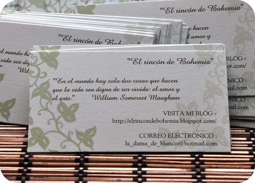 My blog on business cards