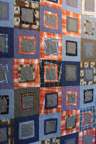 mamaka mills recycled quilt, memory quilt, sustainable quilt, quilt made from shirts, clothing quilt 4