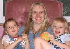 Mommy and two kids