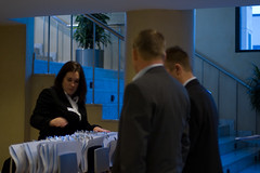 Delegates register with a member of the WTG team