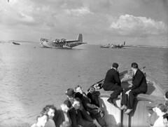 Flying boat and small seaplane at Foynes. (National Library of Ireland on The Commons) Tags: ireland bristol airplane aircraft pegasus aviation airplanes maia airlines flyingboat seaplane limerick airliners floatplane douglasfairbanks foynes glassplatenegative nationallibraryofireland bristolaeroplanecompany shortbrothers transatlanticcrossing imperialairways bristolpegasus youngjfk shortmayocomposite foynesgoldenera impendingwar gadhk shorts21maia shorts21 shortmaia bristolpegasusxc pegasusxc munsterset
