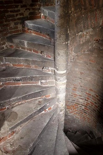 spiral staircase made of bricks