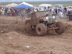 A wheelie like this is hard to find. (taosoffroad) Tags: newmexico sport race speed jump mud offroad automotive dirt trucks win bog mudracing