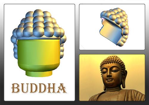 Custom minifig buddha ?? custom minifig  'hair'