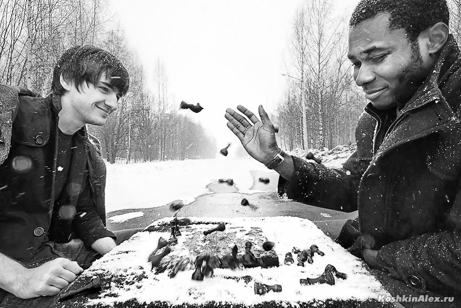 Шахматы под снегом 2639