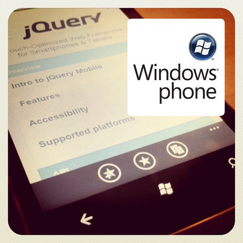 WP7 running on jQuery Mobile