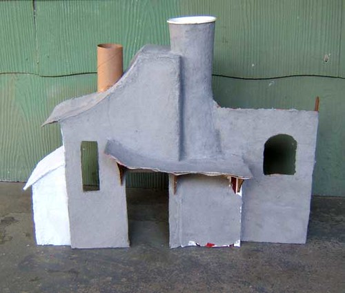 #88- Paper mache house phase 3