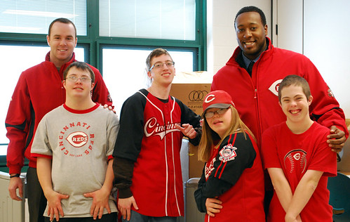 Work-study students partner with the Reds