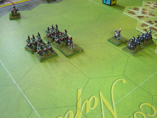 Lancers drive the hussars from the field