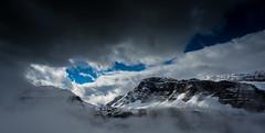 Crowfoot Mountain Revealed (jfusion61) Tags: canada canadianrockies crowfoot mountain clouds fog banffnationalpark glacier snow nikon d810 24mm leegraduatedfilter fall monring sky panorama icefieldparkway alberta f18