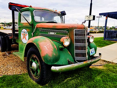 Sickies Texaco Dodge (creepingvinesimages - mostly off while I relocate ) Tags: htt pickup truck vintage texacostar fargo nd outdoors red nikon d7000 pse14 topazadjust